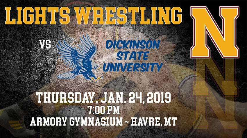 Come cheer the team on as the Lights wrestlers take on the DSU Blue Hawks!