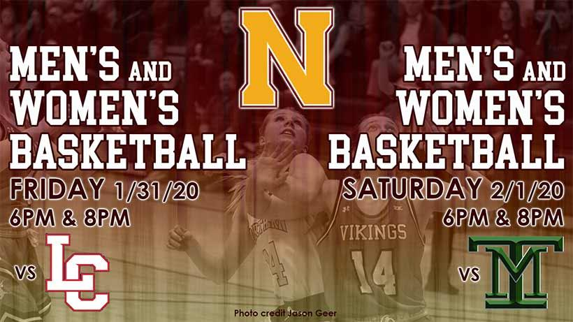 Men's and Women's BBall - Friday Jan 31 vs LC State, Feb 1 vs Montana Tech, 6 & 8pm both nights.