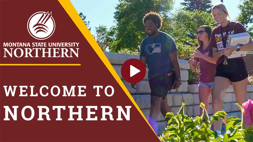 MSU-Northern Welcome to Northern [students walking on campus]
