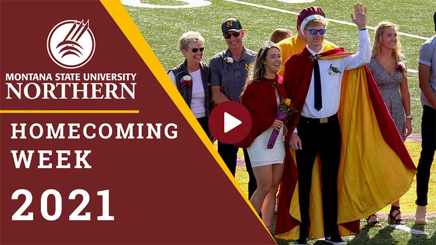 Homecoming Week 2021 [MSUN logo, homecoming king and queen]