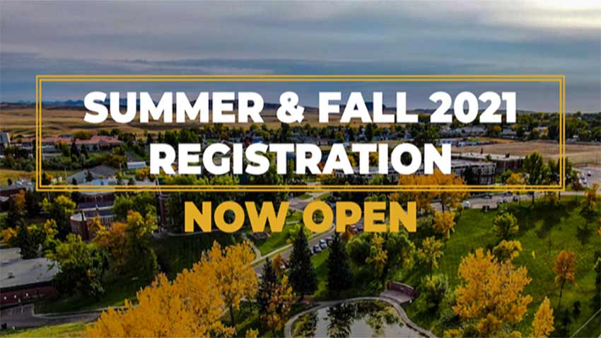 Summer and Fall 2021 Registration Now Open! [aerial of campus in the fall]
