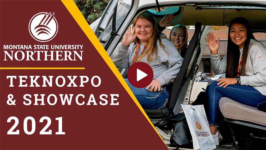 MSU-Northern TekNoXpo & ShowCASE 2021 [high school students in helicopter]