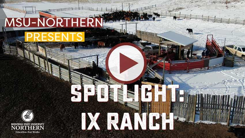 Richard Roth, Vice President of the IX Ranch outside of Big Sandy, Montana, welcomes Northern Ag. Op. Tech. students who visited his ranch for a class field trip.