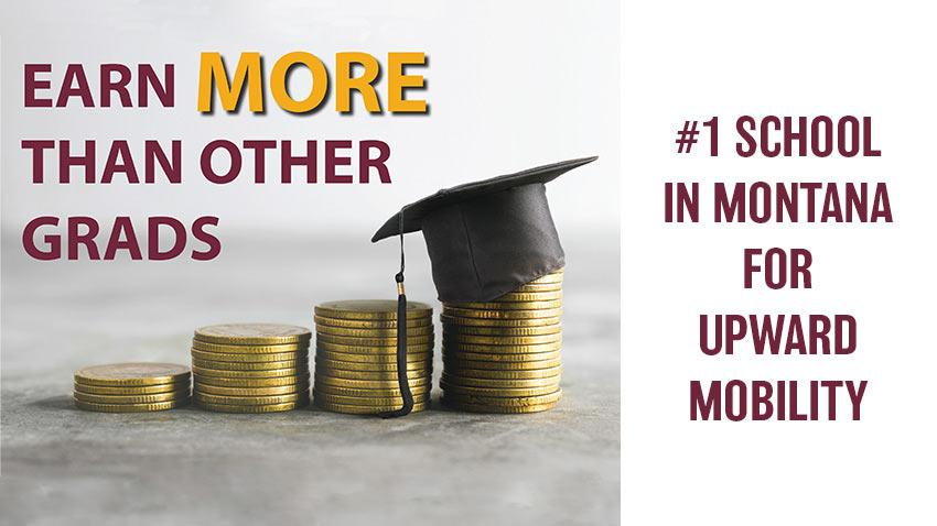 "MSU-Northern is the #1 School in Montana for Upward Mobility. Rankings focused on the university's ""mobility rate,"" or the number of students that started college in the bottom 20 percent of income distribution and reached the top 20 percent."
