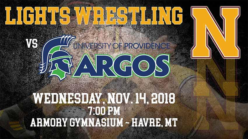 MSU-Northern Lights Wrestlers take on the University of Providence Argos, Wednesday November 14th at 7pm in the Armory Gym.