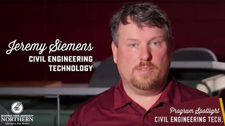Click to watch this short video about the MSU-Northern Civil Engineering Technology Program