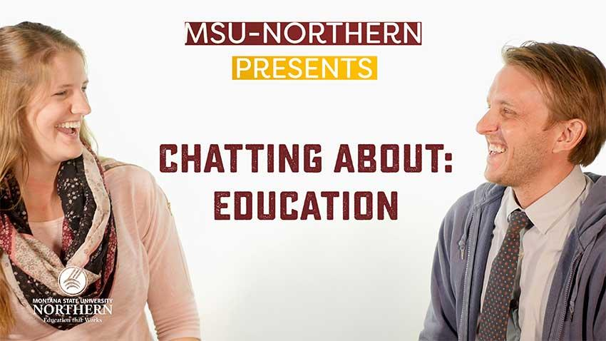 Watch this short video with Education student Brooke Elliot and Assistant Professor Joey Todd chatting about the education program and some of the classes offered at Northern.
