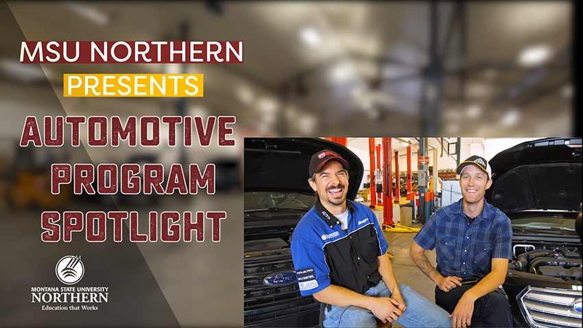 Click to watch this short video about MSU-Northern's Automotive program.