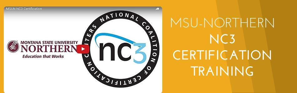 Click to view video - MSUN NC3 Certification Training