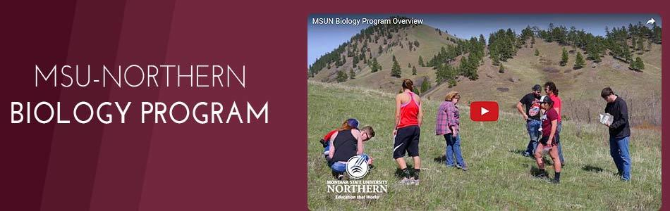 Click to view video - MSUN Biology Program Overview