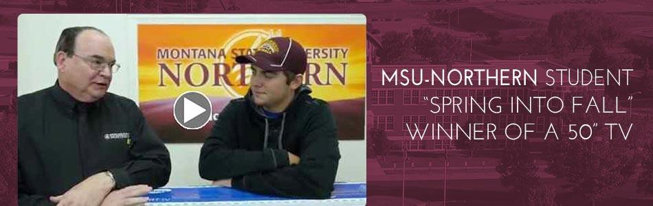 Click to view video - MSU-Nothern Student Wins TV
