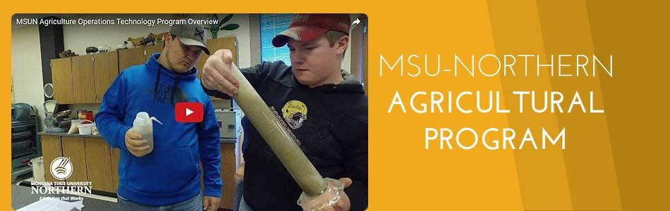 Click to view video - MSUN Agriculture Program Overview