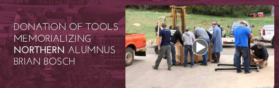 Click to view video - MSU-Nothern Receives Donation of Tools