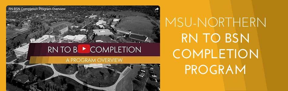 Click to view video - MSUN RN to BSN Completion Program Overview
