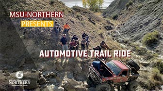 MSU-Northern Program presents Automotive Trail Ride (4WD in a gully)