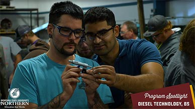 Diesel Technology students in class