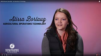 Alissa Borlaug, Agricultural Operations Technology student