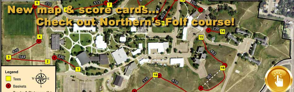 Check out MSU-Northern's folf course!