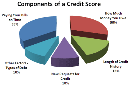 Chart: Components of a Credit Score