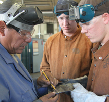 Welding Technology Students in class