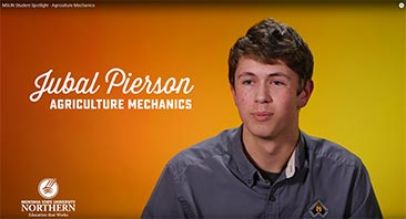 Jubal Pierson, Agricultural Mechanics Technology student