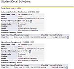 MSU-Northern MyInfo Student Detail  Schedule screen