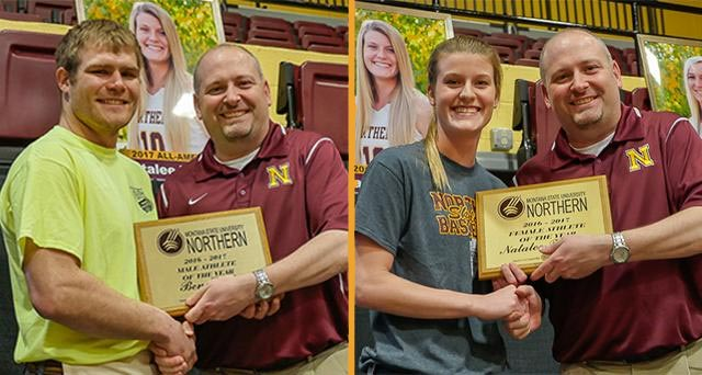 Student Athletes of the Year - Ben Stroh and Natalee Faupel