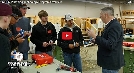 Video Link: MSU-Northern Plumbing Program - Click to View