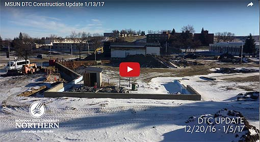 Video Link: MSU-Northern Diesel Technology Center Construction Update 13-Jan-2017 - Click to View